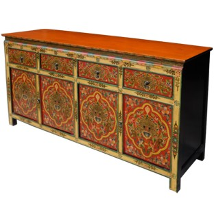 Tibetan Painted Sideboard