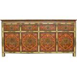 Tibetan Painted Sideboard