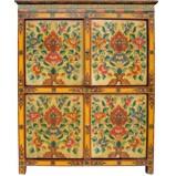 Tibetan Tall Medium Cabinet