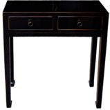 Black Two Drawer Side/Hall Table