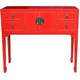 Red Console/Hall Table