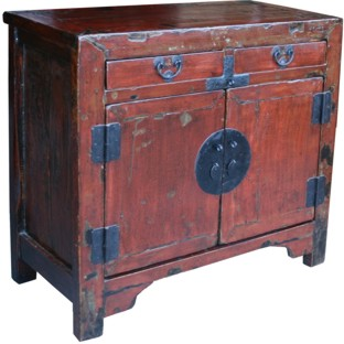 Chinese Antique Red Cabinet