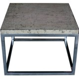 Side Table with Framed Stainless Steel Legs