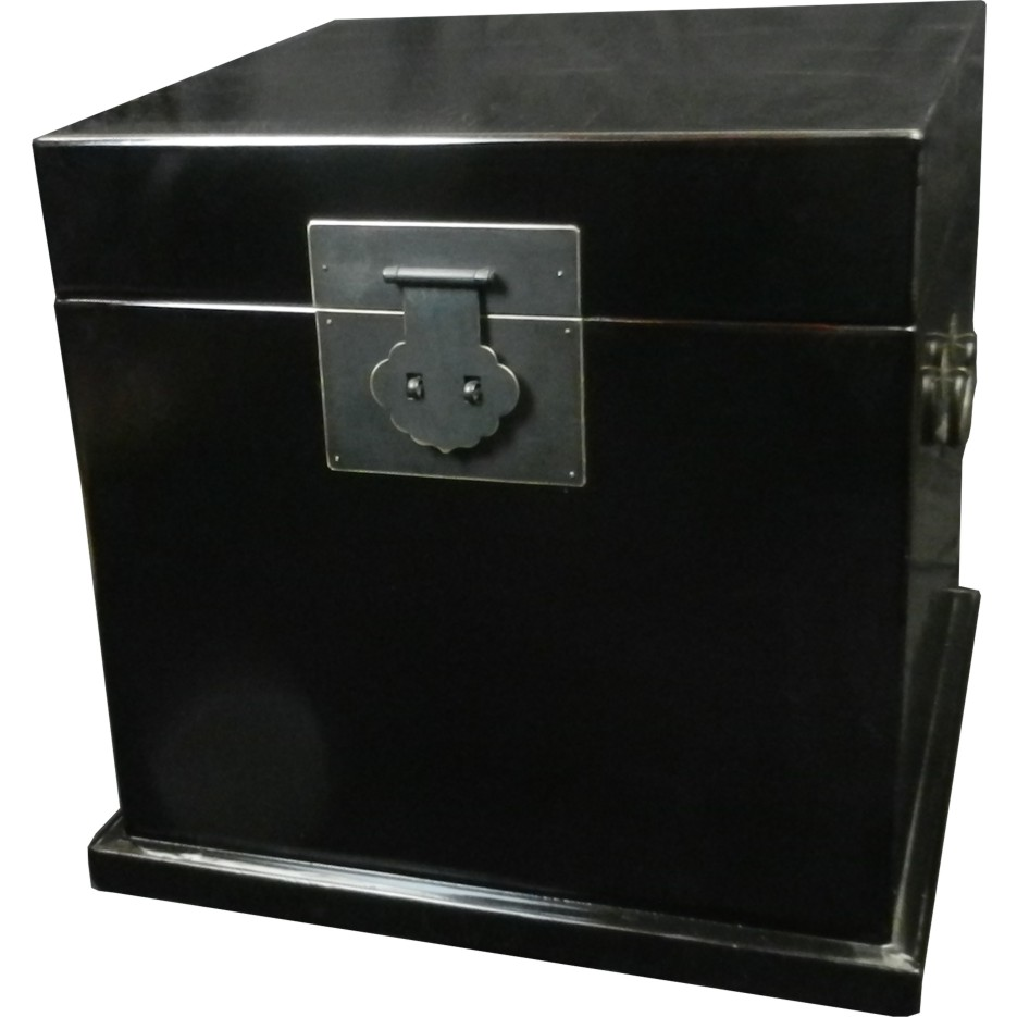 Chinese chest black lacquer chest bedside table 88 01 for Chinese furniture ebay australia