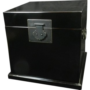 Black Lacquered Cube Chest