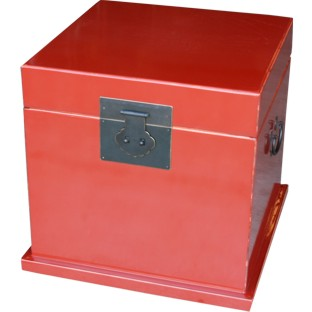 Red Lacquered Cube Chest