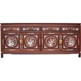 Large Rosewood Mother of Pearl Sideboard Buffet