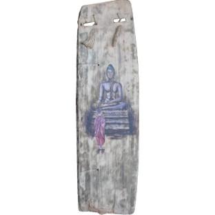 Chinese Wall Hanging - Budda Painting on Old Wood Panel
