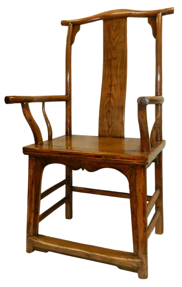 Chinese Antique Scholars Arm Chair Side vew