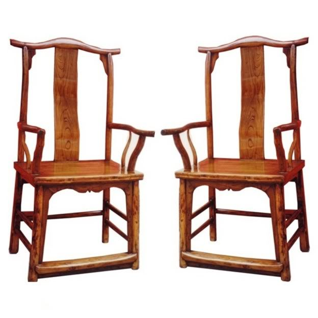 Chinese Antique Scholars Arm Chair pair View