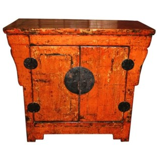 Original Orange Chinese Cabinet