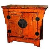 Original Orange Chinese Cabinet