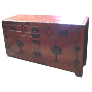 Chinese Sideboard Original Red Ming Dynasty