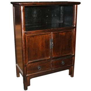 Brown Medium Display Cabinet