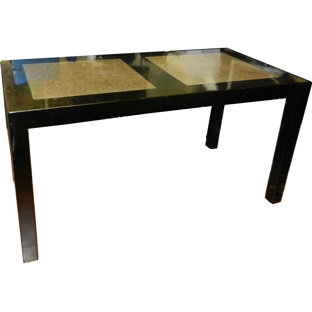 Black Stone Inlay Dining Table