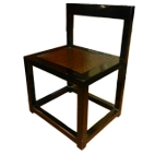 Black Rattan Inlay Dining Chair