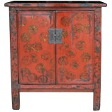 Original Gold Painted Red Cabinet