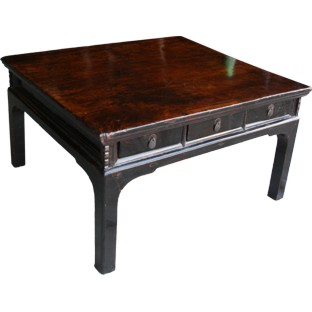 Brown Double Sided Drawers Rustic Coffee Table