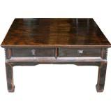 Original Dark Four Drawer Rustic Coffee Table