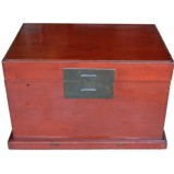 Plain Red Lacquered Trunk