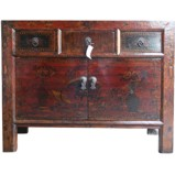 Original Three Drawer Painted Sideboard
