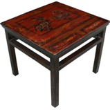 Maroon Painted Side Table
