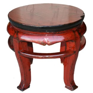 Original Red Round Stool/Side Table