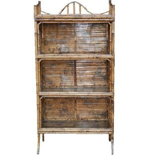 Antique Bamboo Bookshelf