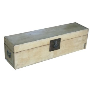 Beige Wide Leather Trunk