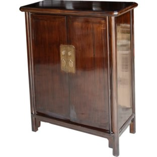 Brown Ming Style Tapered Cabinet