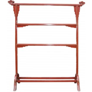 Oriental Red Lacquer Clothes Rack