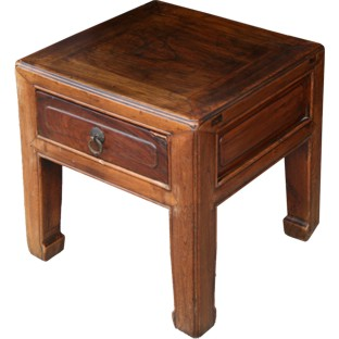 Small Stool with Drawer/Side Table
