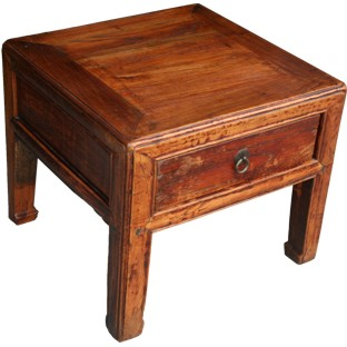 Small Stool with Drawer