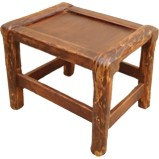 Small Wood Rectangular Stool