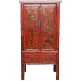 Shanxi Painted Medium Cabinet