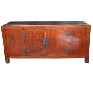Red Painted Two Door Sideboard