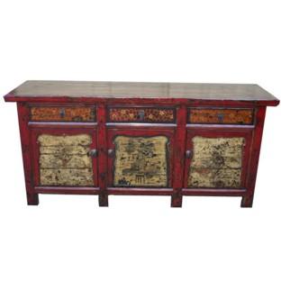 Original Mongolian Painted Sideboard