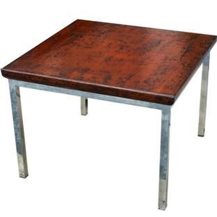 Rustic Side Table with Stainless Steel legs