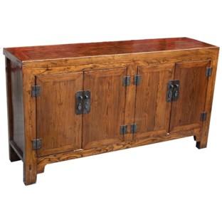 Original manchurian Brown Four Door Sideboard