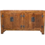 Original manchurian Brown Four Door Sideboard