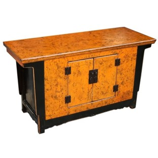 Orange and Black Low Sideboard/TV Unit