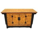 Orange and Black Low Sideboard/TV Unit