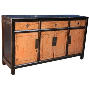 Original Four-Door Three Drawer Sideboard
