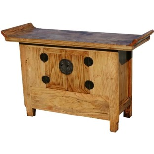 Original Wood Altar Table Sideboard