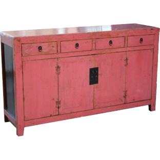 Pink Chinese Sideboard
