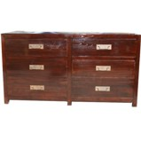 Brown Six Drawer Sideboard/Chest of Drawers