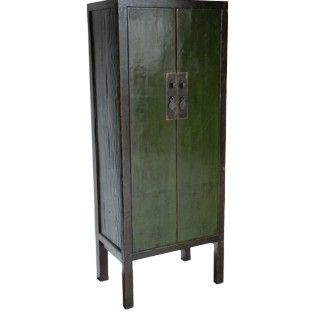 Antique Green Slim Cabinet