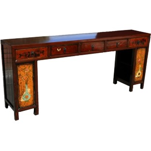 Original manchurian Five-Drawer Painted Long Table