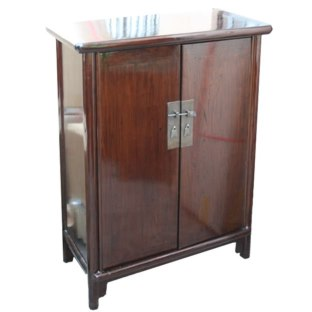 Tang Brown Ming Style Tapered Side Cabinet