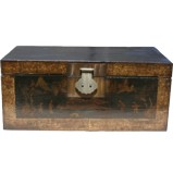 Antique Black Painted Chest